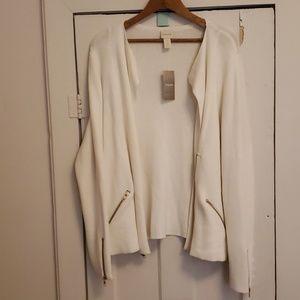 Chico's Knit Moto-Sweater